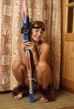 русскую лыжницу сняли прямо с дистанции