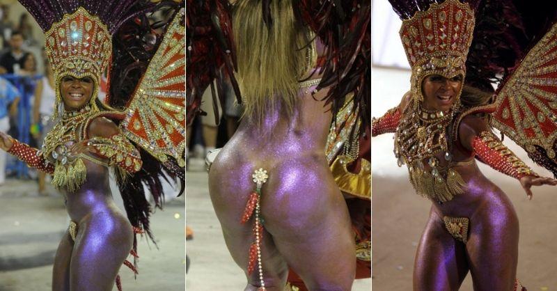 Как танцовщицы самбы срамоту прикрывают