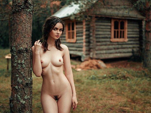 девушки и природа