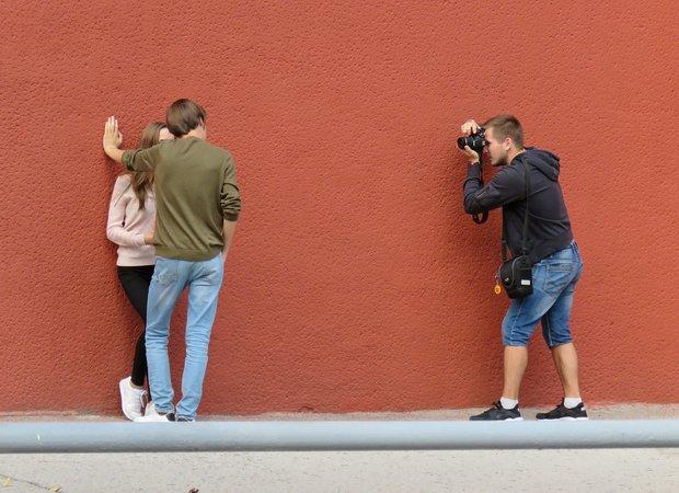 фотографировать фотографирующего